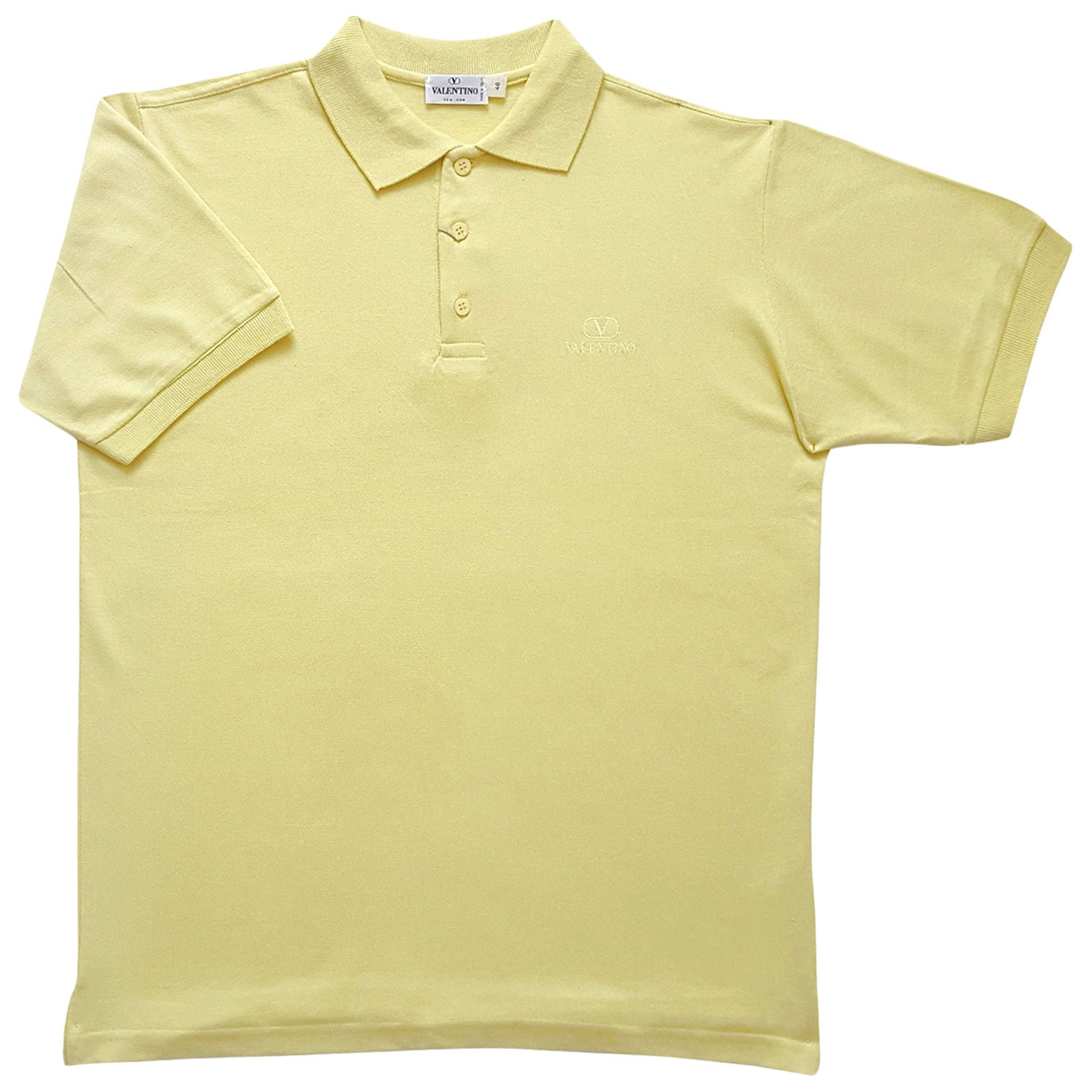 Valentino Garavani \N Yellow Cotton Polo shirts for Men M International