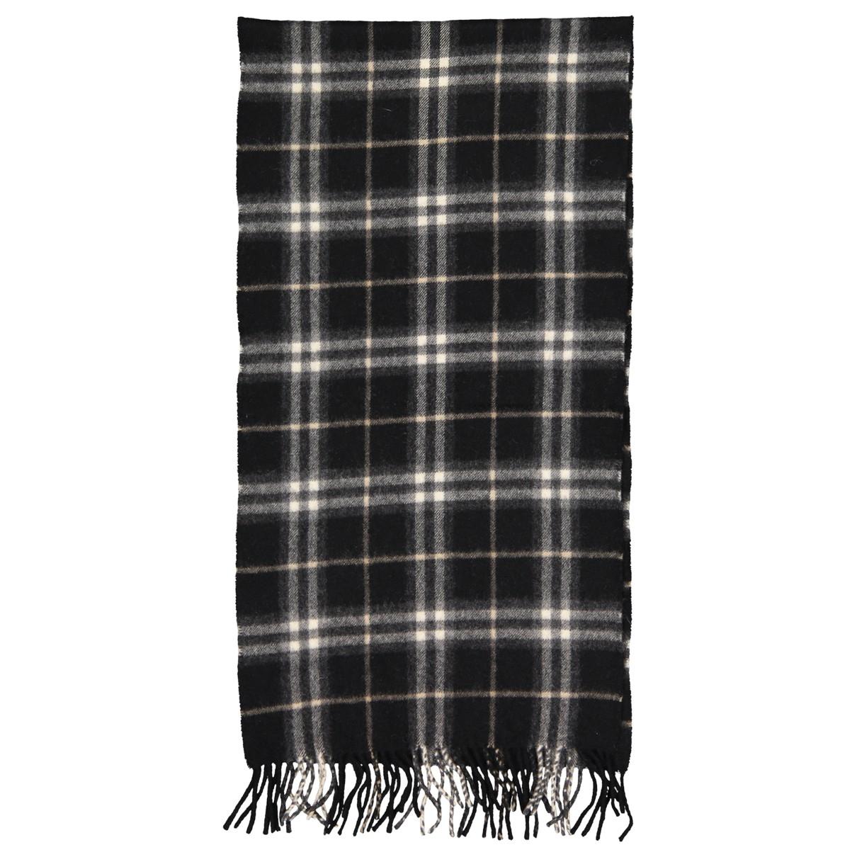 Burberry - Foulard   pour femme en cachemire - noir