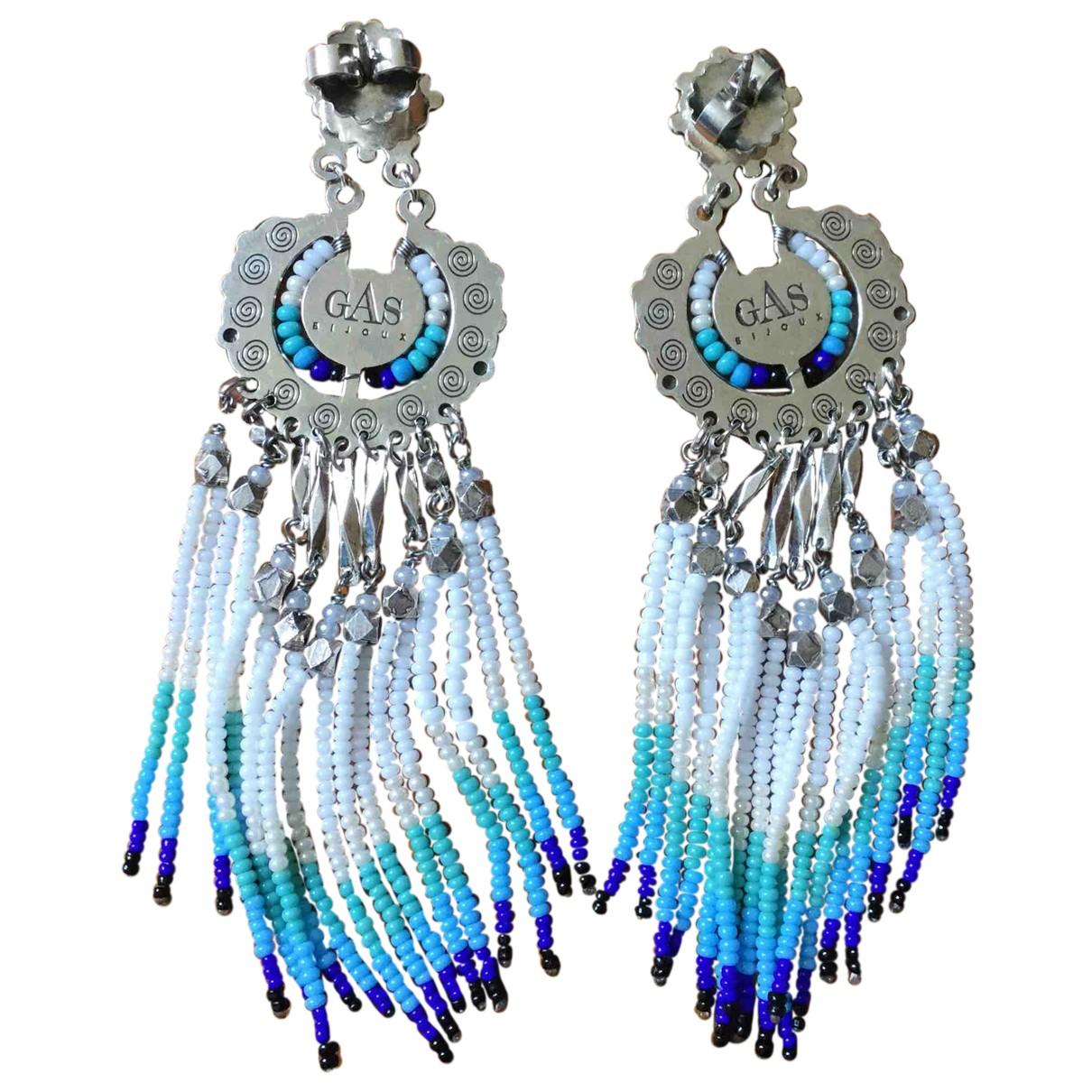Gas - Boucles doreilles   pour femme en perles - bleu