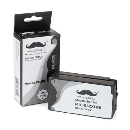 Compatible HP OfficeJet 8715 Black Ink Cartridge High Yield - Moustache