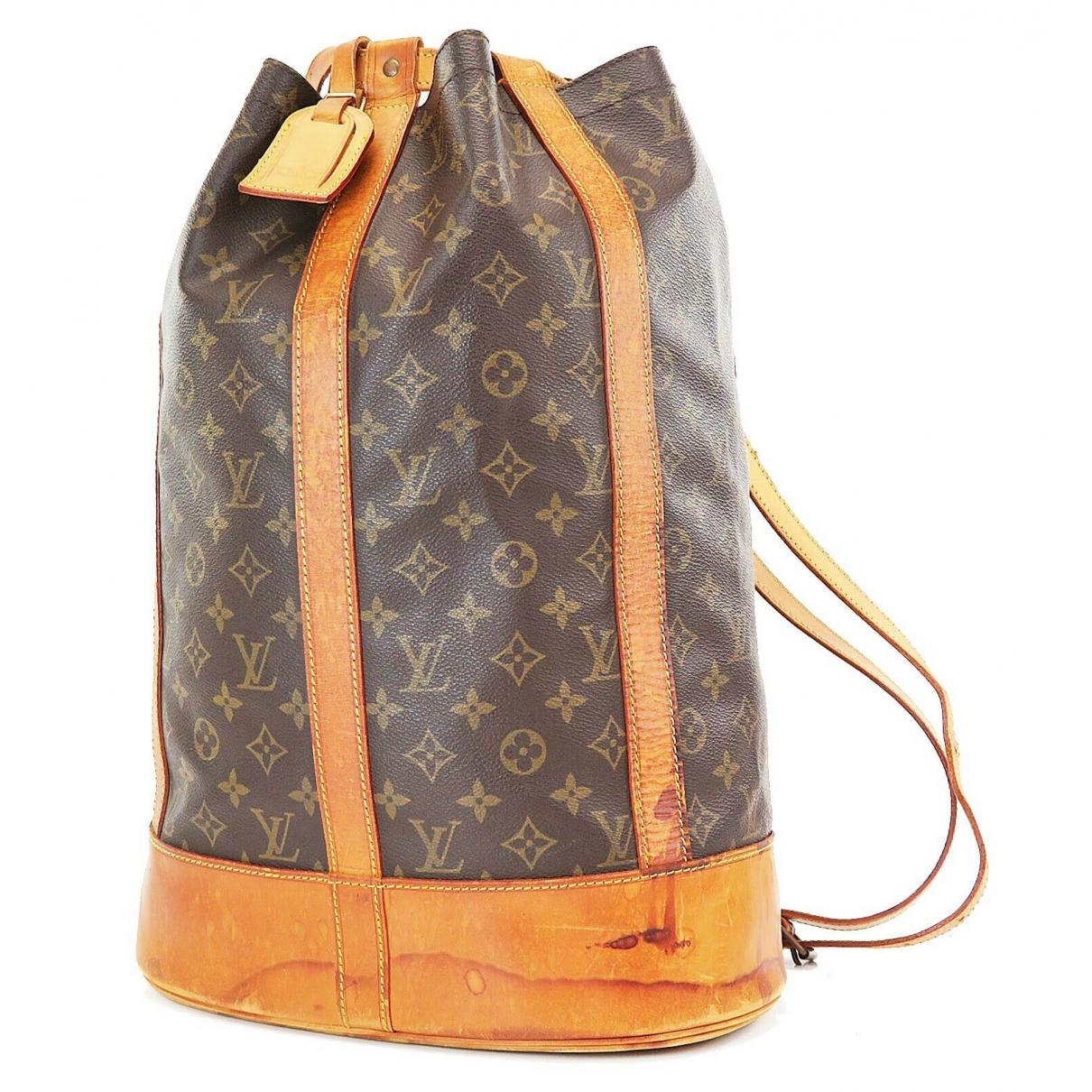 Louis Vuitton - Sac a main Randonnee pour femme en cuir - marron
