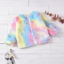 Toddler Girls Tie Dye Teddy Coats