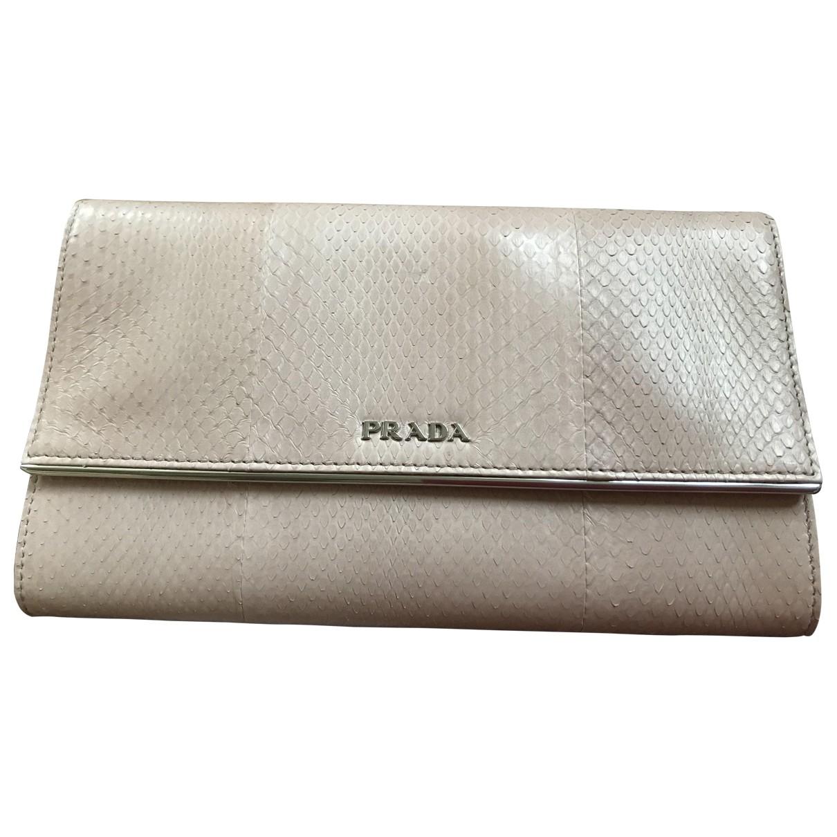 Prada \N Pink Exotic leathers wallet for Women \N