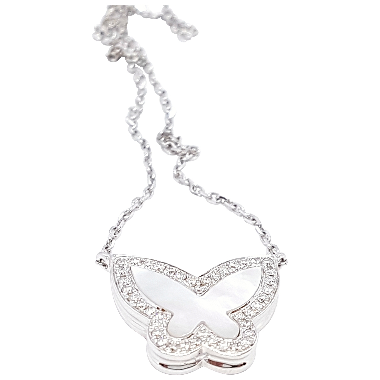Non Signé / Unsigned Motifs Animaliers Silver White gold necklace for Women \N