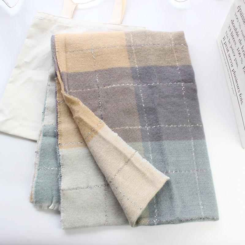 Ericdress Scarf Imitation Cashmere Plaid Scarves