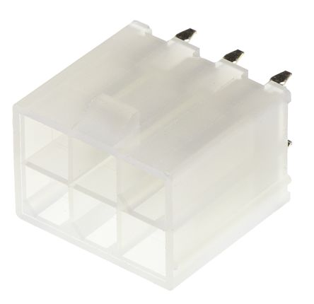 Molex , Mini-Fit Jr, 5566, 6 Way, 2 Row, Straight PCB Header (5)