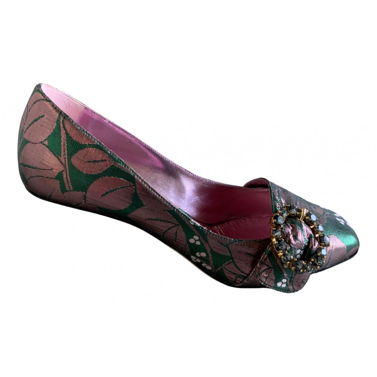 Dolce & Gabbana - Escarpins   pour femme en toile - vert