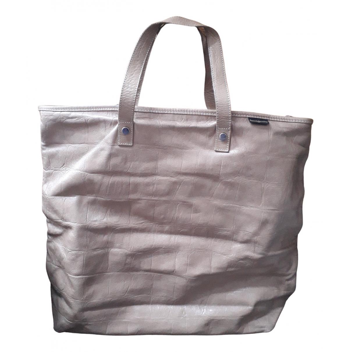 Russell & Bromley \N Handtasche in  Beige Leder