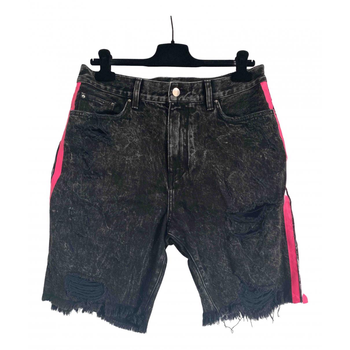 Amiri \N Shorts in  Schwarz Denim - Jeans