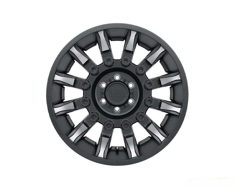 Black Rhino Mission Wheel 18x9 8x170 6mm Matte Black w/ Machined Tinted Spokes