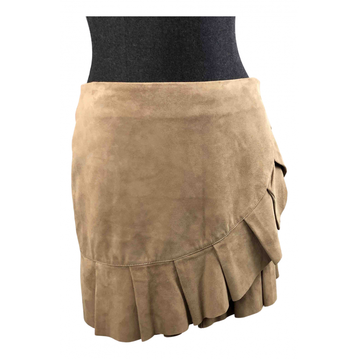 Mini falda de Cuero Stand Studio