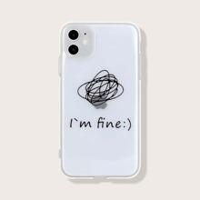 Slogan Graphic Transparent iPhone Case