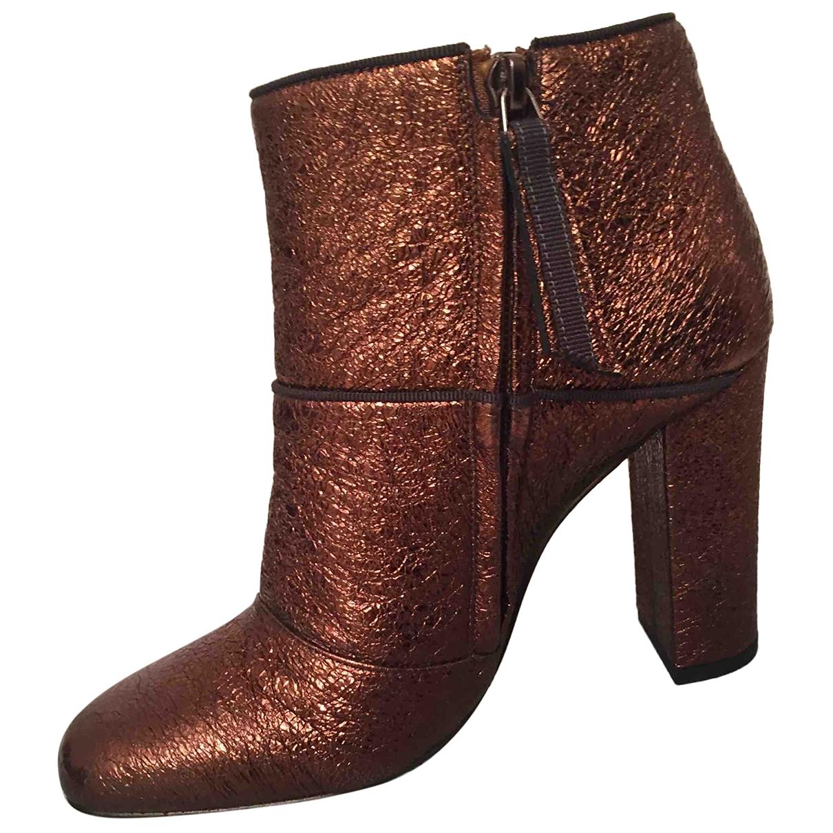 Paola Darcano - Boots   pour femme en cuir