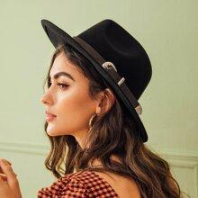 Fedora Hut mit Schnalle und Guertel