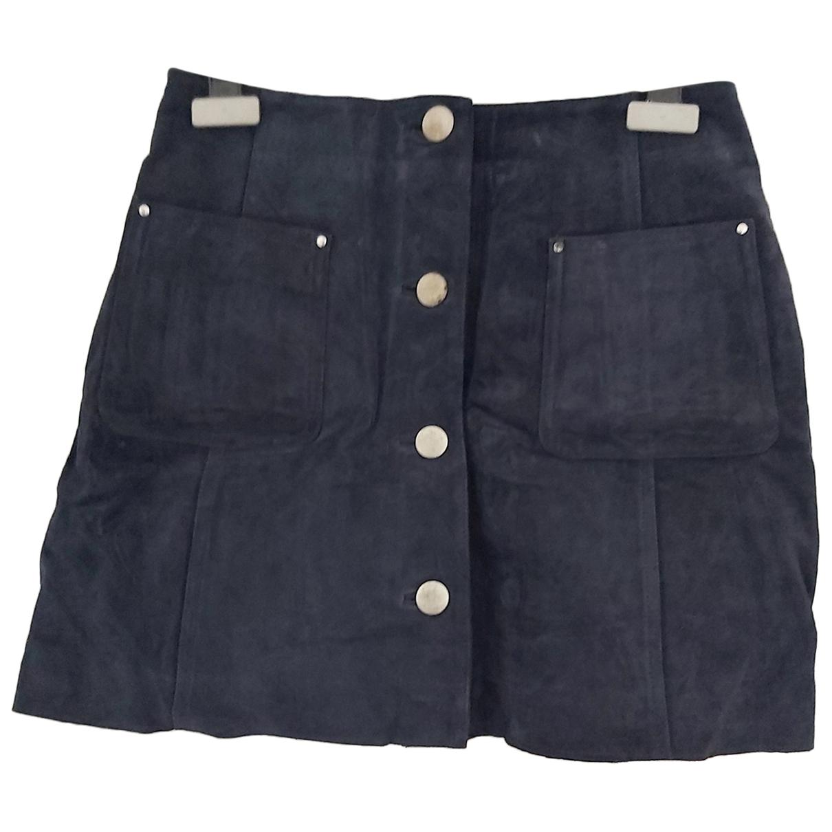 Asos \N Blue Suede skirt for Women 36 FR