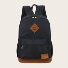 Kids Letter Patch Backpack