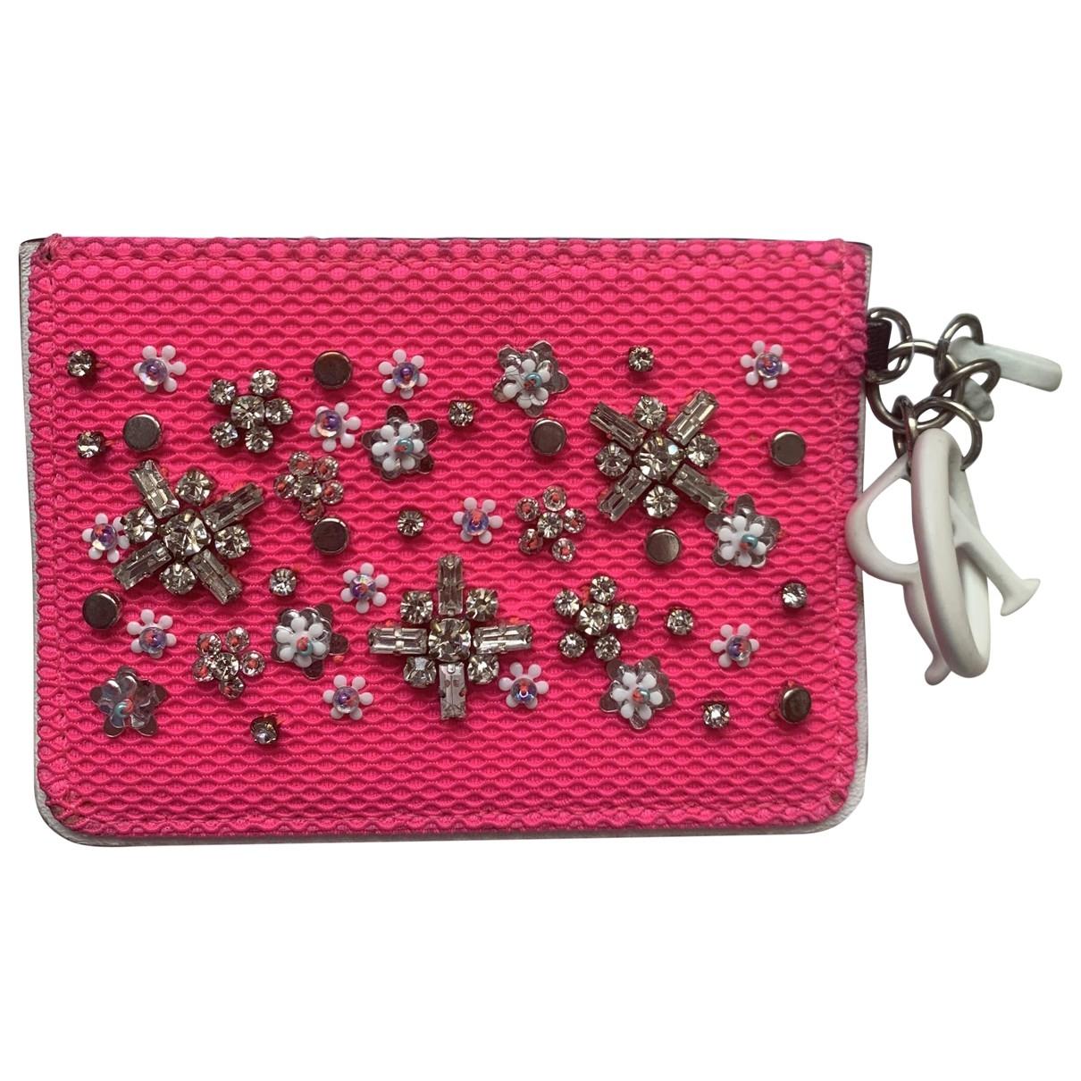 Dior \N Kleinlederwaren in  Rosa Leinen