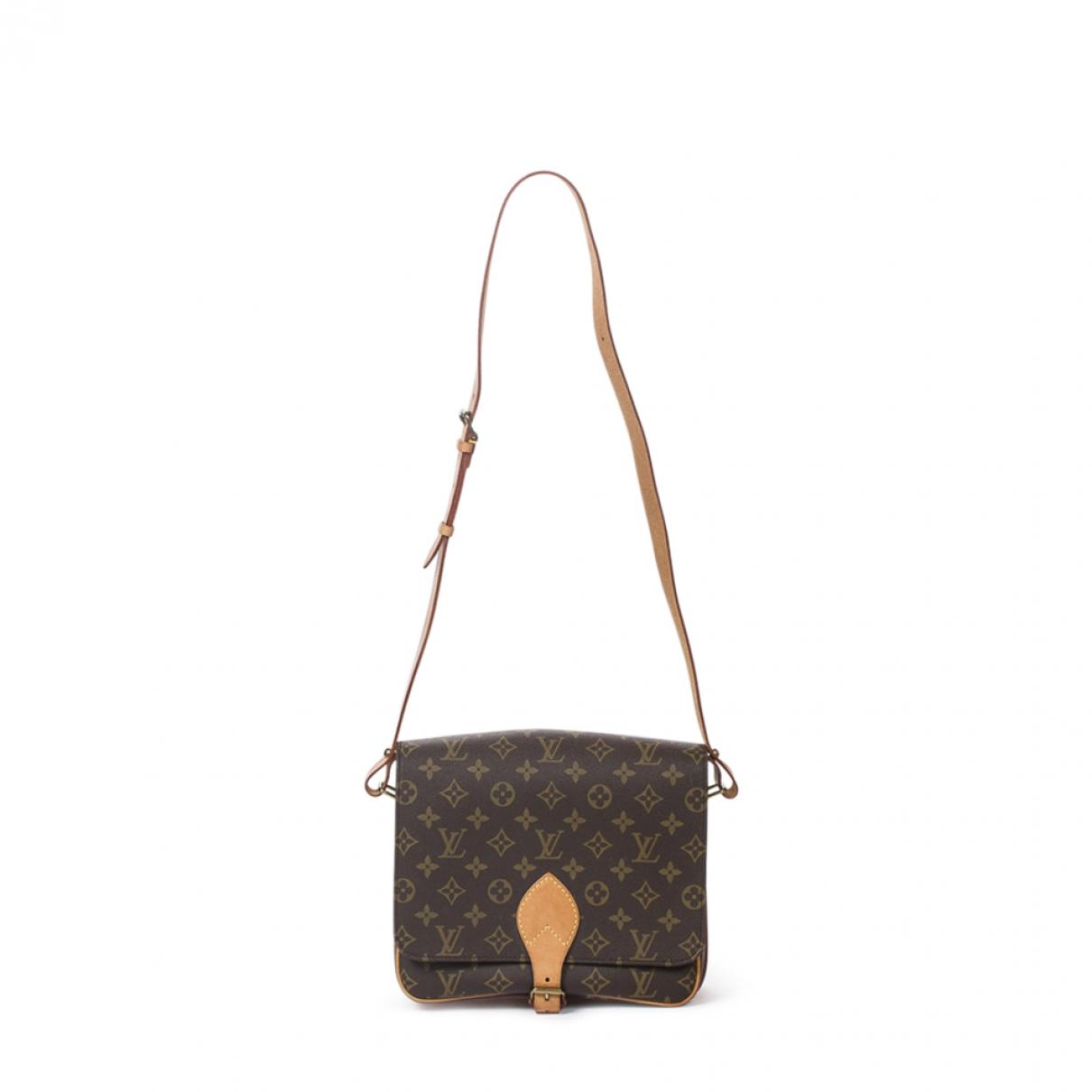 Louis Vuitton \N Handtasche in  Braun Baumwolle
