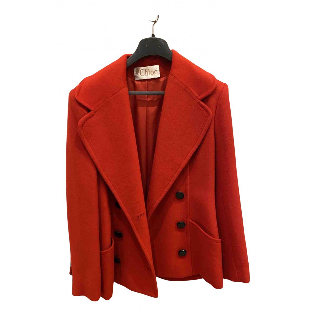 Chloé N Red Wool coat for Women 40 FR
