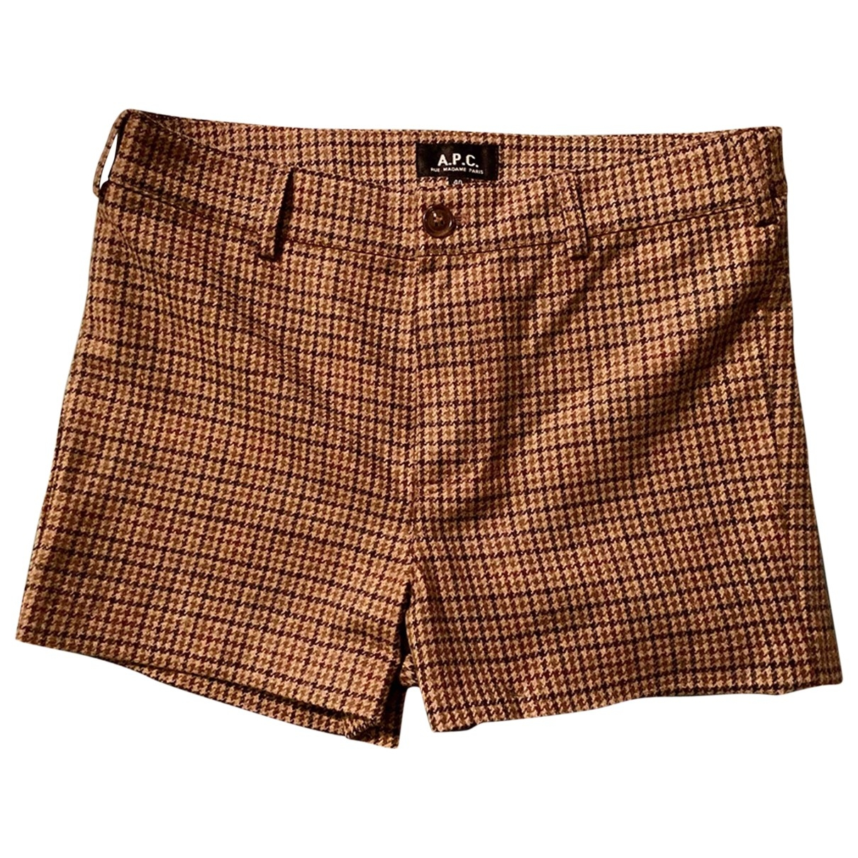 Apc \N Brown Wool Shorts for Women 40 FR