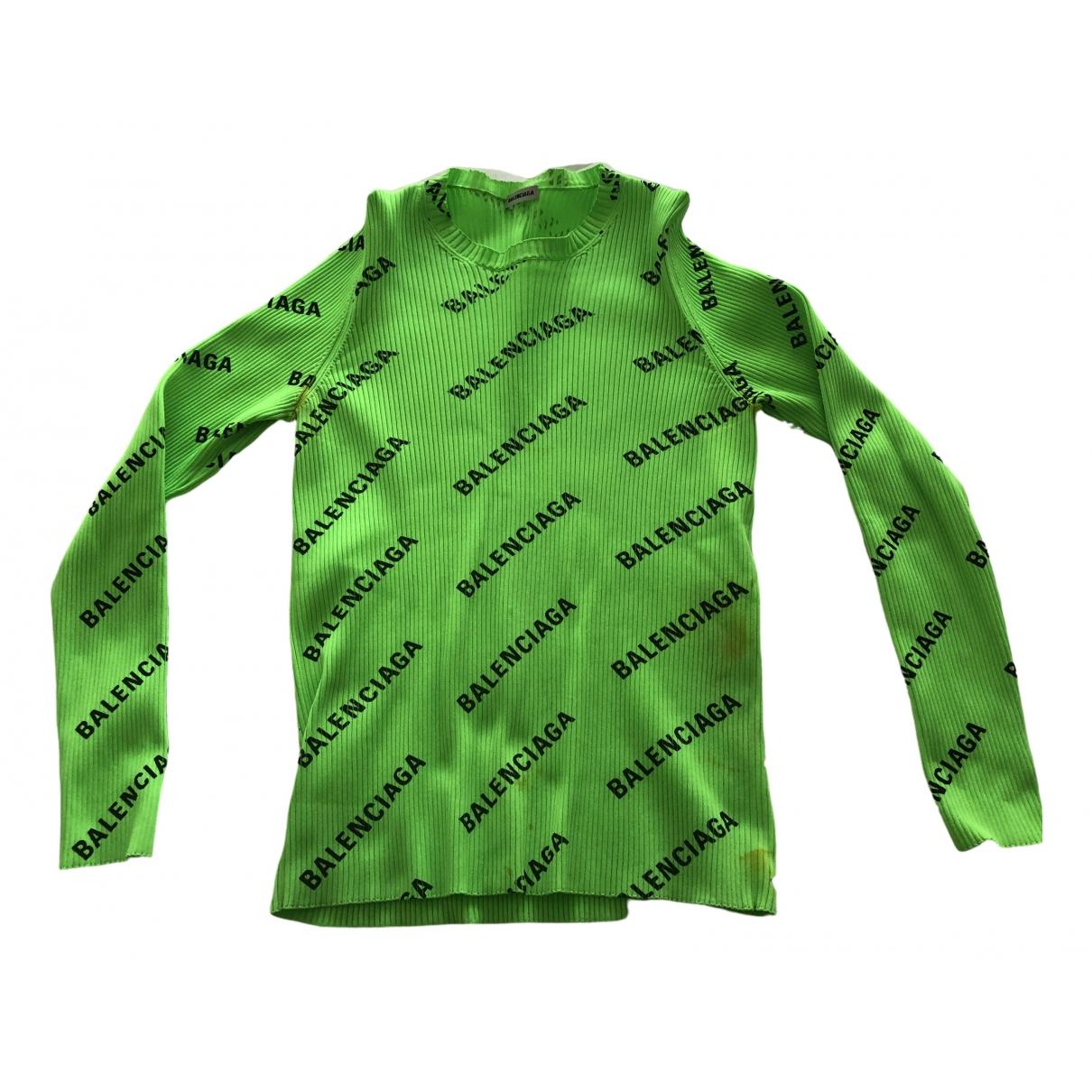 Balenciaga - Pull   pour femme en coton - vert