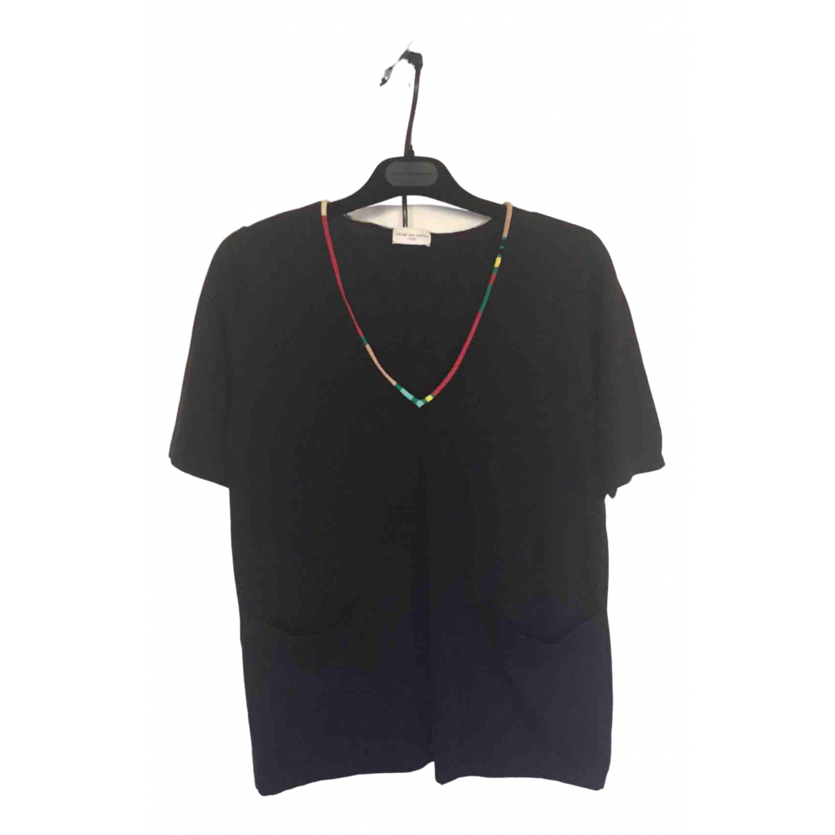 Dries Van Noten \N Top in  Schwarz Wolle