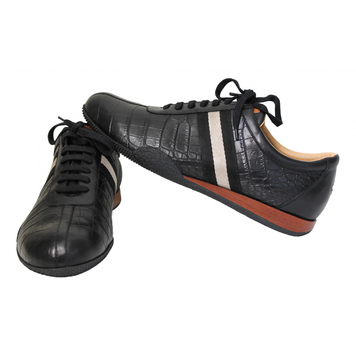 Bally N Black Leather Trainers for Men 45 EU