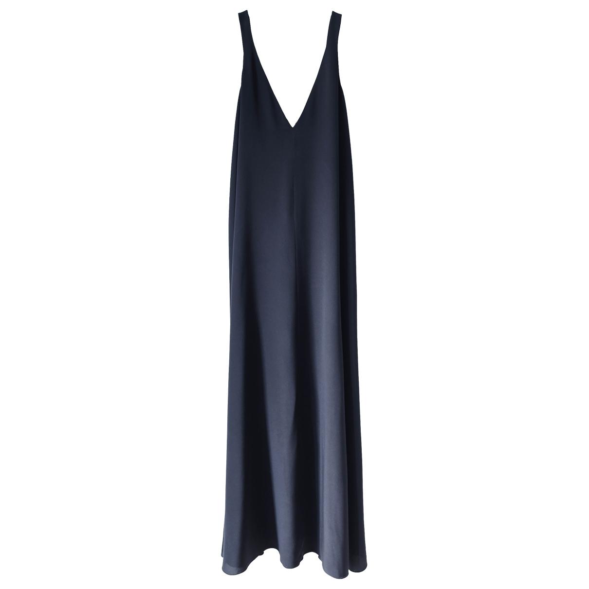 Cos \N Kleid in  Blau Seide