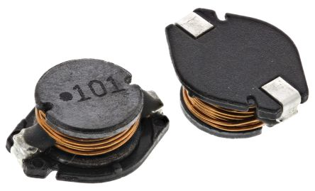 Wurth Elektronik Wurth, WE-PD4 Unshielded Wire-wound SMD Inductor with a Ferrite Core, 100 μH ±10% 1.4A Idc (2)