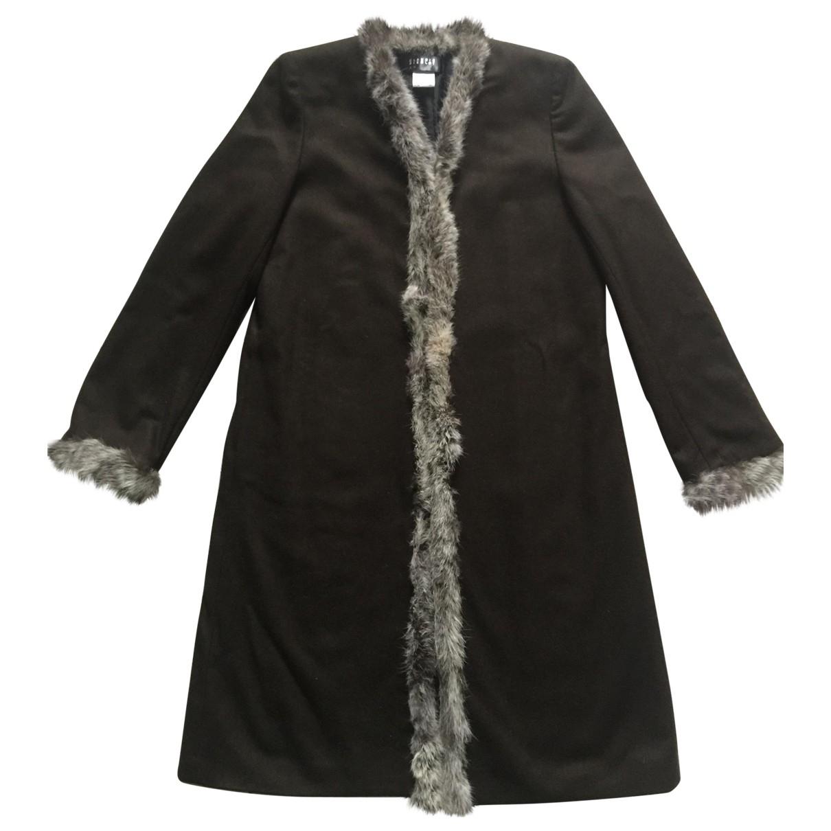 Claudie Pierlot - Manteau   pour femme en laine - marron
