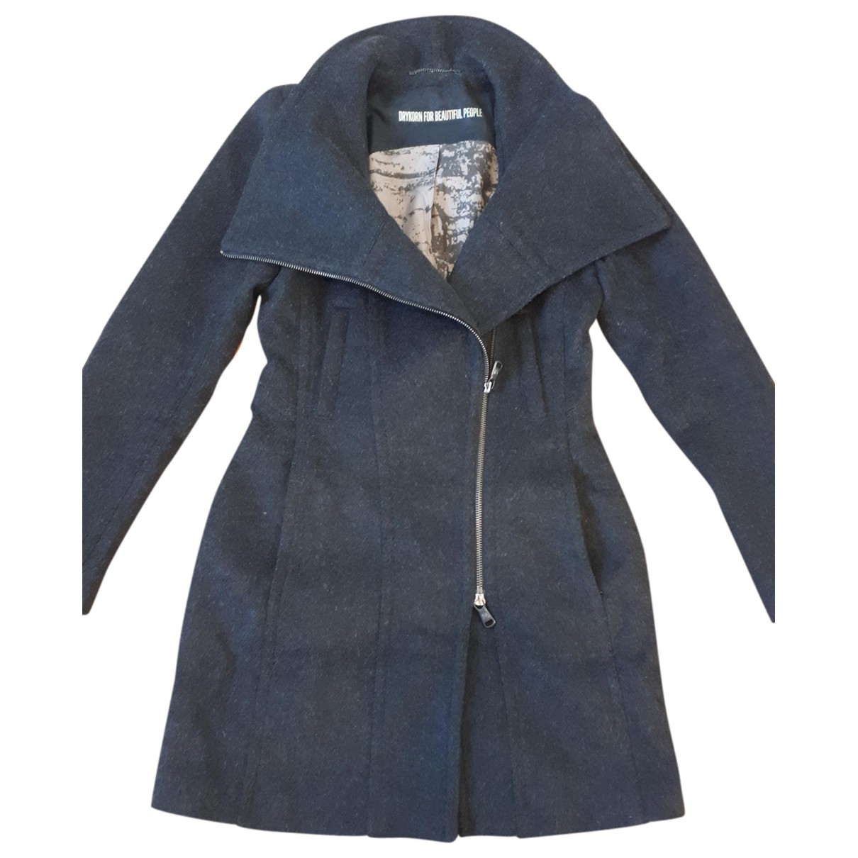 Drykorn \N Anthracite Wool coat for Women 36 FR