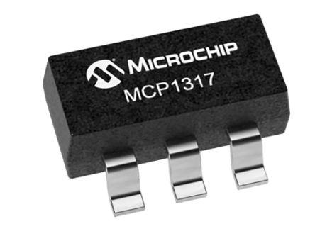 Microchip MCP1317T-31RE/OT, Processor Supervisor , WDT, Reset Input 5-Pin, SOT-23 (3000)