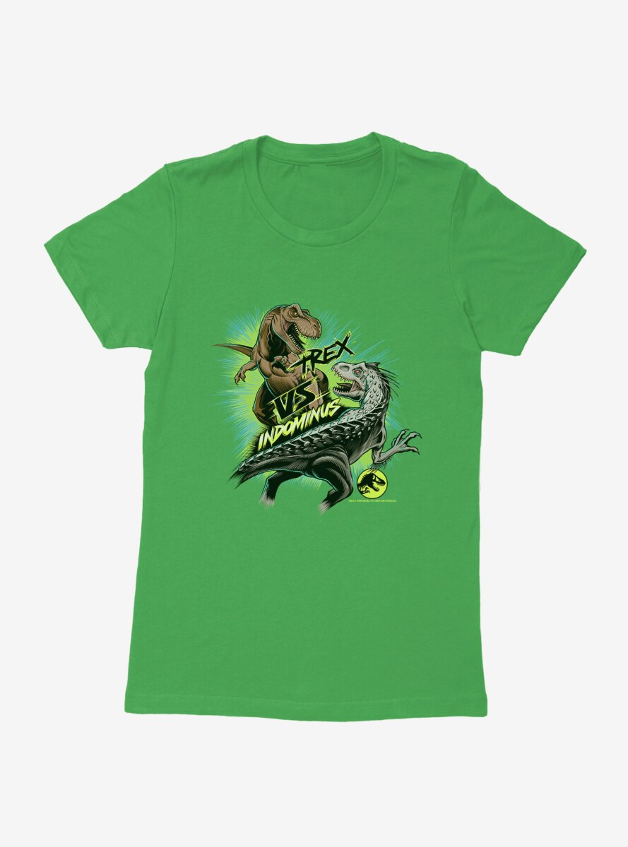 Jurassic World T.Rex Versus Indominus Womens T-Shirt