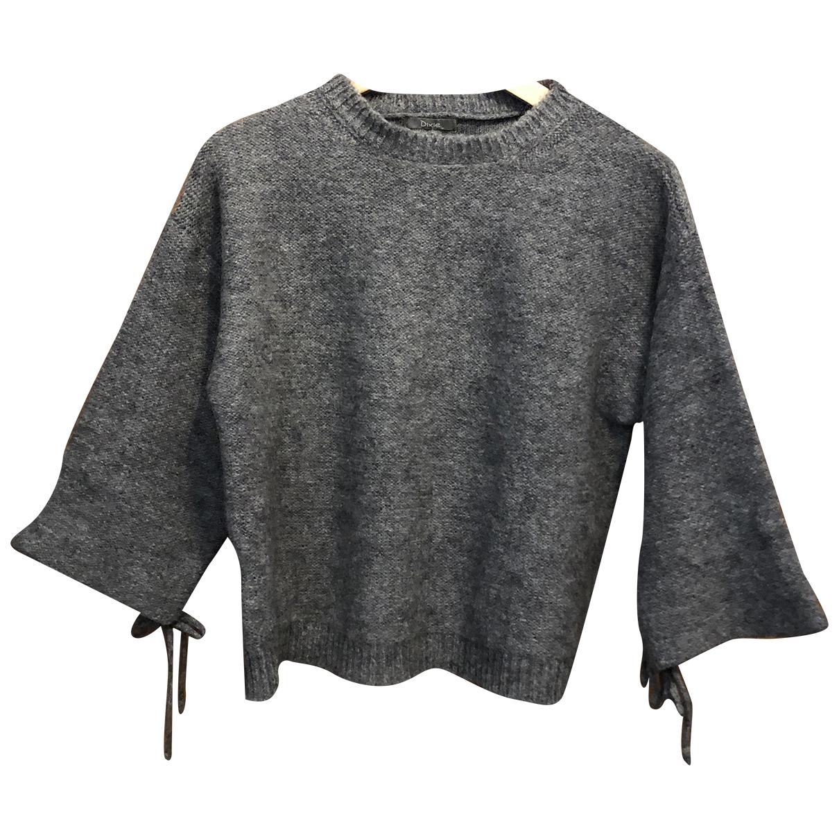 Dixie - Pull   pour femme en laine - gris