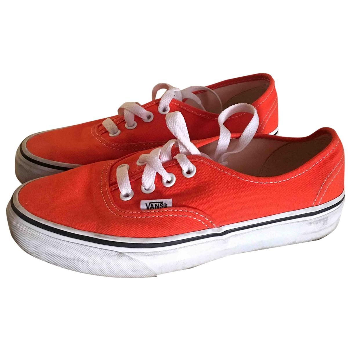 Vans \N Sneakers in  Orange Leinen