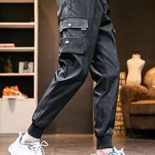 Hose mit Taschen Klappe und Kordelzug