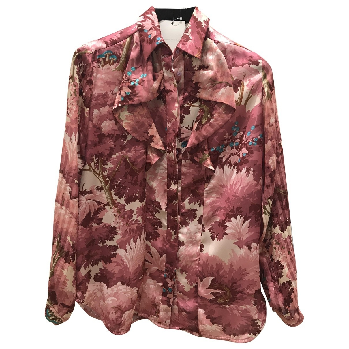 Marco De Vincenzo - Top   pour femme en soie - rose