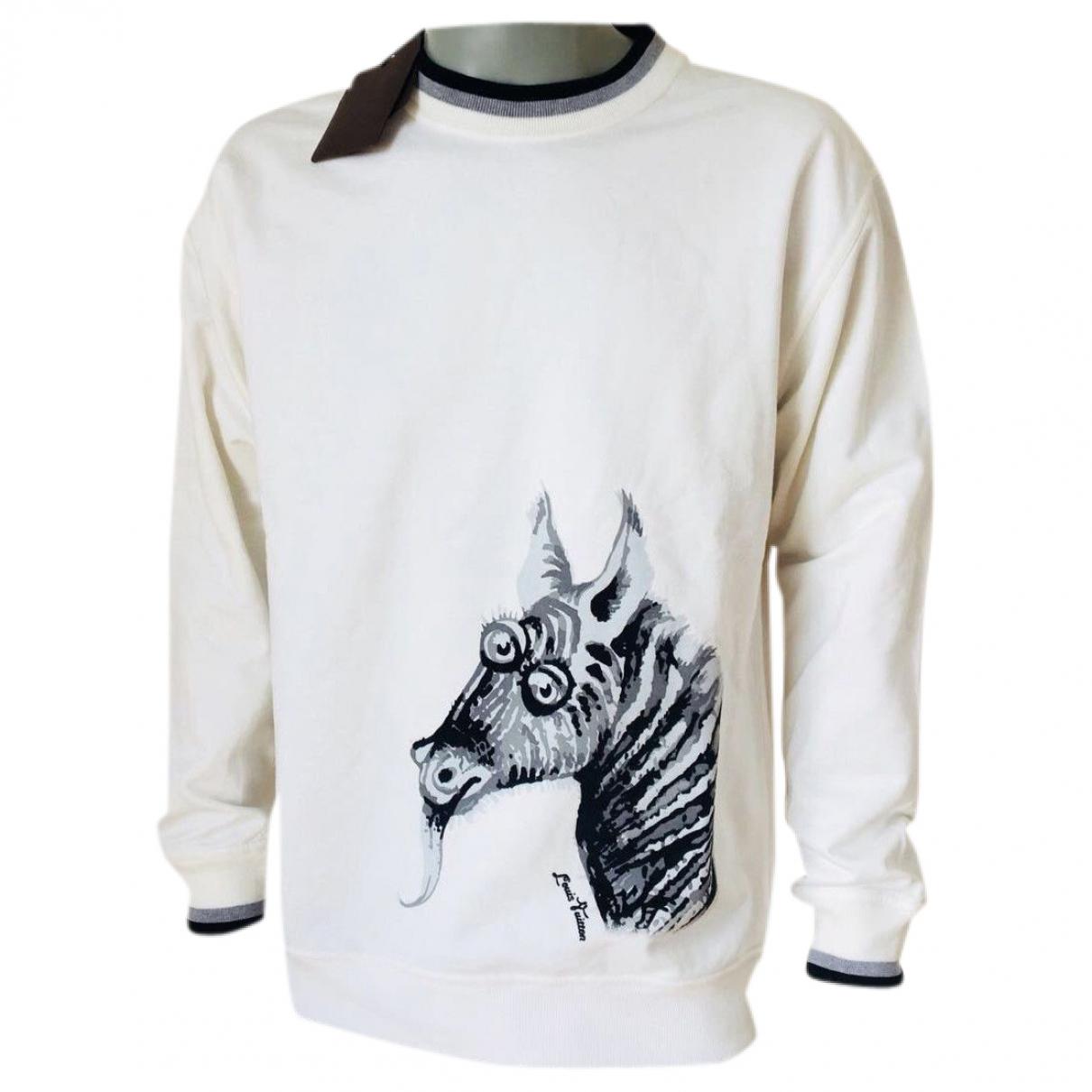 Louis Vuitton - Pulls.Gilets.Sweats   pour homme en coton - blanc
