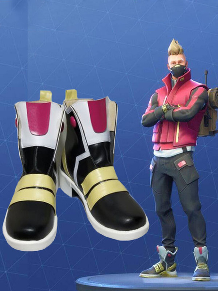 Milanoo Fortnite Cosplay Footwear Drift PU Cosplay Boots