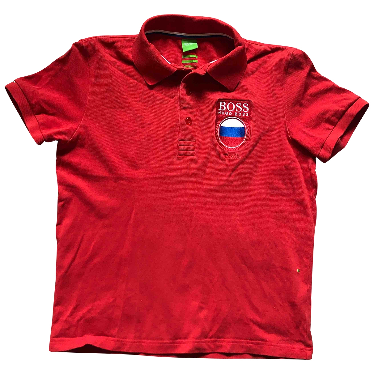 Boss \N Poloshirts in  Rot Baumwolle