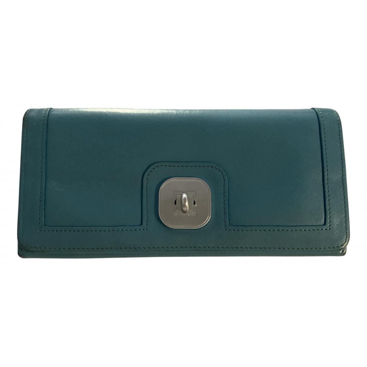 Longchamp \N Portemonnaie in  Blau Leder