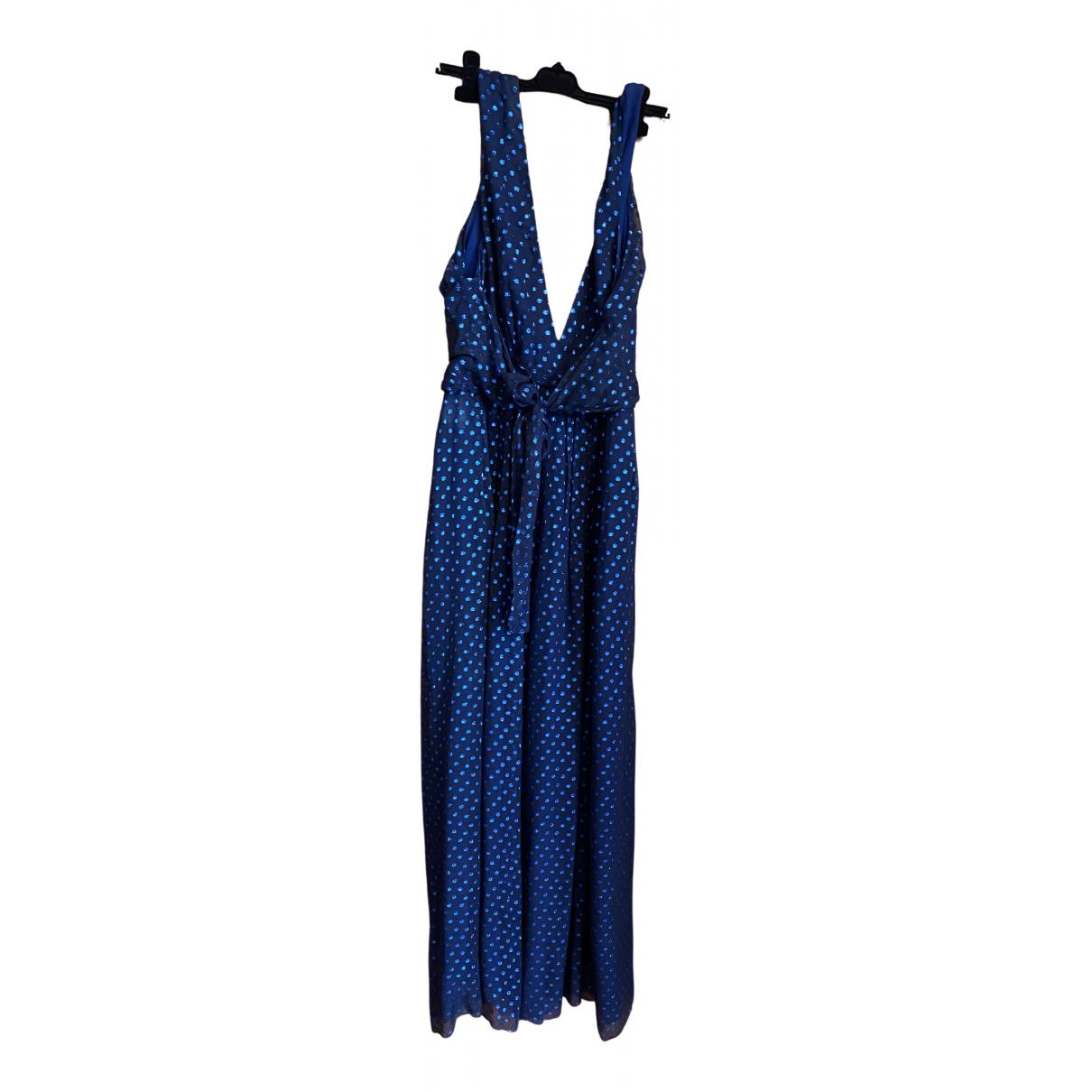 Gucci \N Blue Silk jumpsuit for Women 42 FR