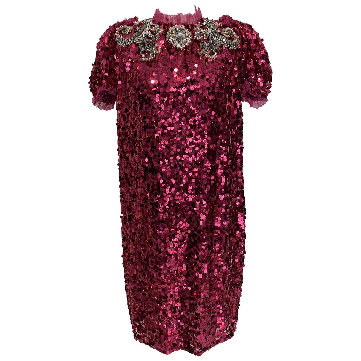 Dolce & Gabbana - Robe   pour femme en a paillettes - rose