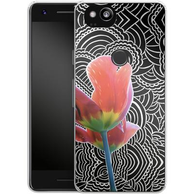Google Pixel 2 Silikon Handyhuelle - Tulips von Kaitlyn Parker