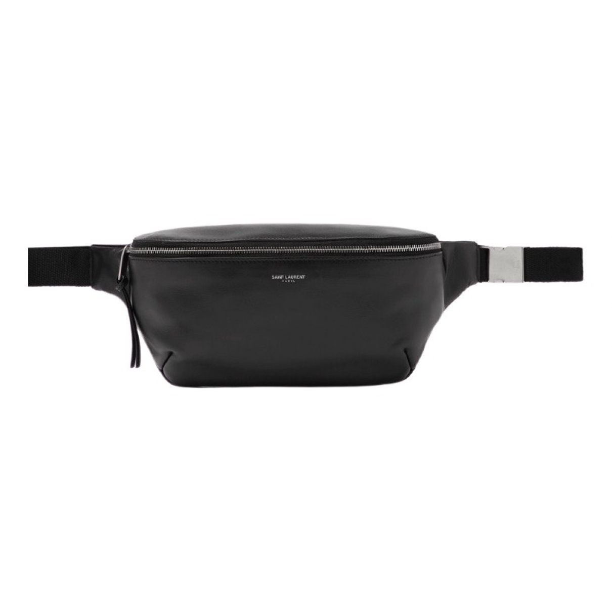 Saint Laurent Belt Bag Clutch in  Schwarz Leder
