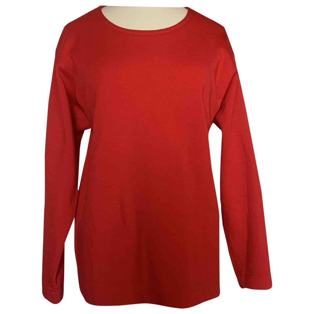 Yves Saint Laurent - Pull   pour femme en laine - rouge