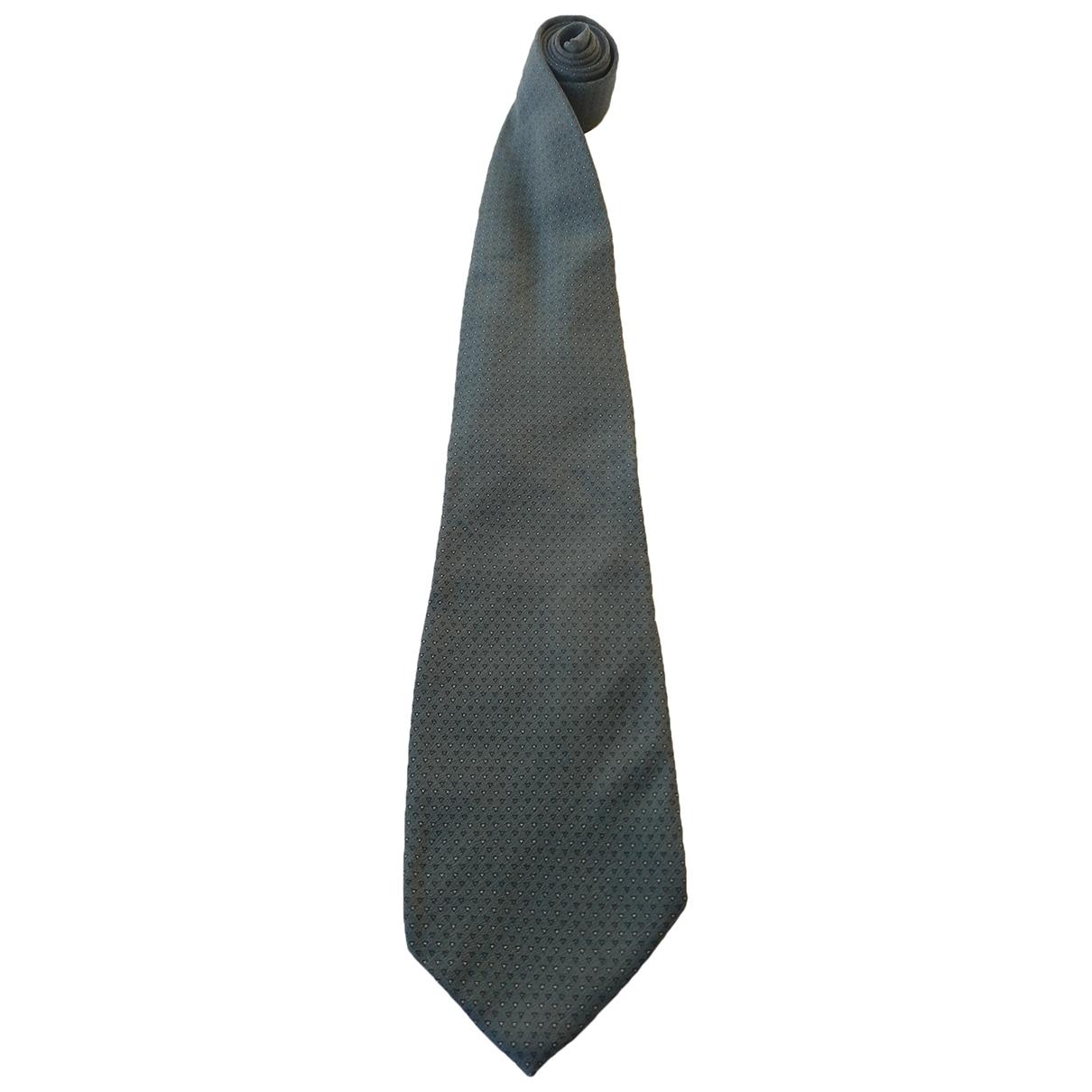 Armani Collezioni - Cravates   pour homme en soie - gris