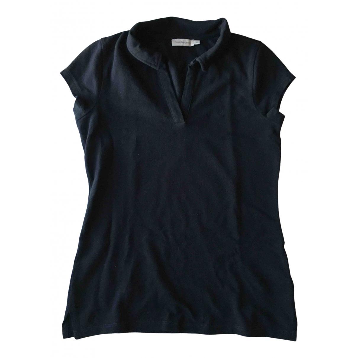 Calvin Klein - Top   pour femme en coton - noir