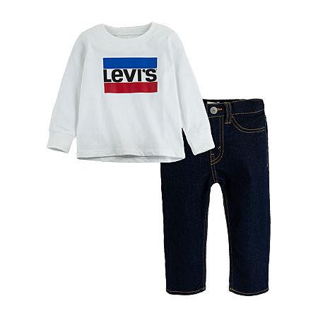 Levi's Baby Boys 2-pc. Pant Set, 3 Months , White