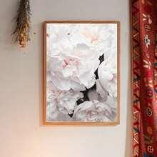 Wandmalerei mit Blumen Muster ohne Rahmen